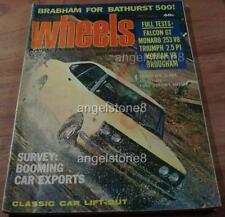 1969.WHEELS.Ford FALCON GT 351.HT Holden BROUGHAM.MORGAN V8.VOLVO.JAG.Bathurst