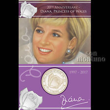 PRINCESS DIANA - 20th Anniversary of Death - Virenium Coin 2017 Ascension Island