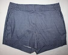 Donna Moore Women's Navy /& White Plaid Stretch Dress Shorts Plus Size 2X NWT