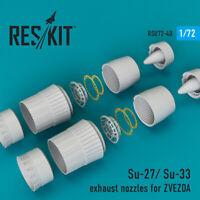 Su-27/ Su-33 exhaust nozzles for ZVEZDA (Resin set) 1/72 ResKit RSU72-0040