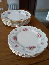 More details for 8 royal albert bone china dinner plates tranquillity and 7 tea plates