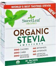 Organic Stevia Sweetener, SweetLeaf, 35 packets