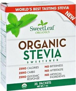 Organic Stevia Sweetener by SweetLeaf, 35 packets