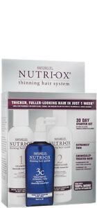 Nutri-Ox 30 day Starter Kit- Extremely Thin Chemically Treated Hair  3 pc system