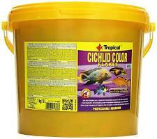 CICHLID COLOR XXL FLAKE FISH FOOD TROPICAL MALAWI & TANGANYIKA (5L/1kg Bucket)