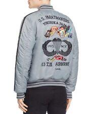 NEW SCHOTT NYC $225 GRAY EMBROIDERED NYON TOUR BOMBER JACKET SZ 4X