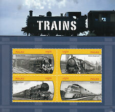 Palau 2014 Gomma integra, non linguellato treni 4v M/S FERROVIE Freccia D'Oro Orient Express FRANCOBOLLI