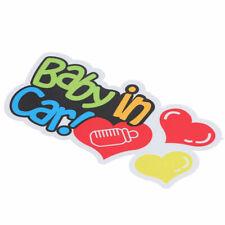 """Baby On Board - In Car Bebe - Window Bumper Locker Sticker """"Baby In Car"""" Decal"""