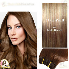 "20""India REMY 100% AAA Human Hair Extension WEFT #8 Double Drawn*SALON SUPPLIER*"