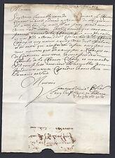LETTRE JUDAICA 1676 SIGNE EN HEBREU REGNE DE LOUIS XIV GHETTO DE METZ LORRAINE