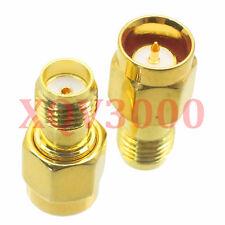 10pcs Adapter converter Push-on SMA male plug to SMA female jack pin RF COAXIAL