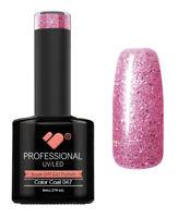 047 VB™ Line Rose Pinky Silver Glitter - UV/LED soak off gel nail polish