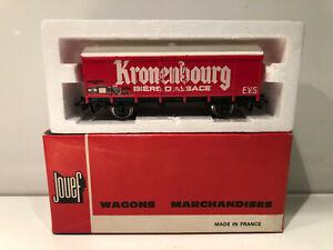 Jouef HO Wagon Marchandise COUVERT METALLIQUE 2 essieux KRONENBOURG Neuf