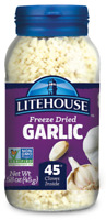 NEW Litehouse Farms Freeze Dried Herbs  GARLIC 1.58 oz Jar  Lighthouse
