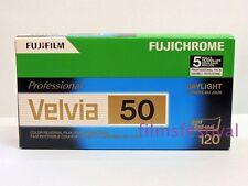 5 rolls FUJICHROME Velvia 50 120 Color Slide Film