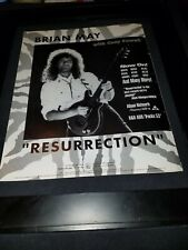 Brian May Resurrection Rare Original Radio Promo Poster Ad Framed! #2