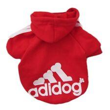 Pet Dog Clothes Soft Cotton Adidog Sweatshirt Sweater Hoodie Red Size XXL