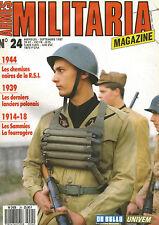MILITARIA N°24 CHEM NOIR RSI / LANCIER POLONAIS / SAMMIES 14-18 / OFFICIER HEER