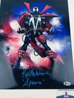 Keith David signed Spawn 11x14 METALLIC photo BAS H32764