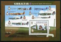 Gibraltar Aviation Stamps 2011 MNH Supermarine Spitfire 75th Anniv RAF 1v M/S