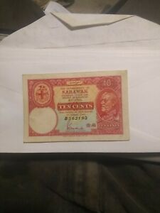 1940 10 Cent SARAWAK  local currency.