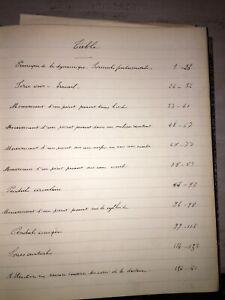 Manuscrit scientifique sur les Principes de la Dynamiques. 1884