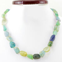 RARE 408.45 CTS NATURAL MULTICOLOR FLUORITE UNTREATED BEADS HAND MADE NECKLACE