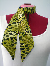 Rock n Roll/Rockabilly Neck/Head Scarf/ Hair Tie. Leopard/Animal Print. Khaki.