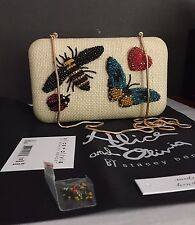 $495 ALICE + OLIVIA Shirley INSECTS Large CLUTCH,NWT, butterfly,ladybug,bee