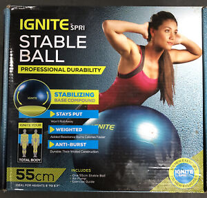 Ignite by SPRI 55-centimeter Stable Ball Kit Exercise Aerobic Gym Ball
