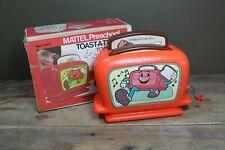 Vintage Mattel Toast-A-Tune Kids Music Box Handwound 1972 With Box
