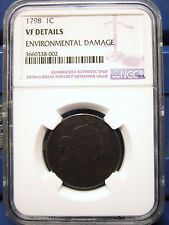1798 Draped Bust 1C Cent VF Details NGC