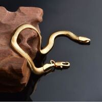 DAMEN / HERREN SCHLANGENKETTE ARMKETTE EDELSTAHL 750 GOLD 18 KARAT VERGOLDET NEU