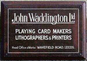 Old bronze enamel plaque sign John Waddington Games works office Leeds Monopoly