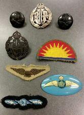 WW2 • Australian RAAF Insignia, badges, cloth patches, sweetheart badge, etc