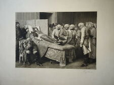 LAGUILLERMIE (1841-1934) GRANDE EAU FORTE MORT MARCEAU JEAN PAUL LAURENS 1880