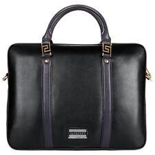 VanGoddyMen's Top -Zip Leather Briefcase Laptop Tote Messenger Shoulder Bag