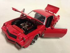 "1979 Chevy Camaro Z28 Collectible 8.25"" Metals Die Cast 1:24 Scale Jada Toys Red"