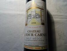 Chateau La Tour Carnet--Haut Médoc 1998-- Mise au chateau et bouteille numéroté