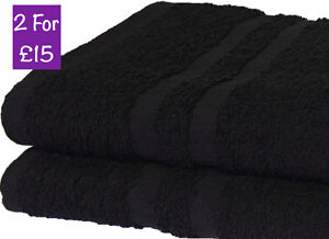 2x Jumbo Extra Large Beach Towels | 100% Cotton | Best Holiday Bath Sheets BLACK