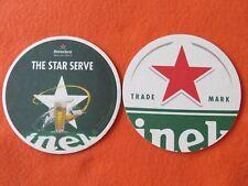 Beer Coaster: HEINEKEN Brewery Bier ~ Open Your World ~ The Star Serve ~ HOLLAND
