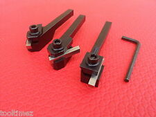 3pc Lathe Cut Of Tool Set 8mm Shanks Fits Tool Posts for Myford ML7 Sherline