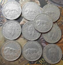 10 Coins LOT - ¼ Rupee - George VI 1946-1947 Nickel – 2.9 g – ø - British INDIA