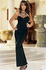 Dreamgirl Halter Gown 3813 Blue Large