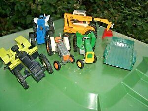 Job Lot of Britains Vintage Tractors + Trailer Spares or Repair