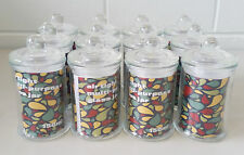 40 x Glass Apothecary Candy Jar with Lid, for Candy & Candle Waxing - Mini 150ml