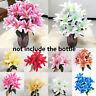 Bunt Home Zubehör Lilies Bouquet Fake Lilien Künstliche Blumen Wedding Decor