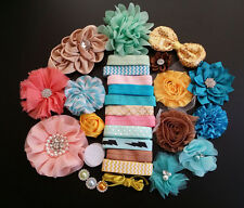 Baby Shower Station,Deluxe DIY kits,Headband,shabby flowers Party Supply,Xms S20