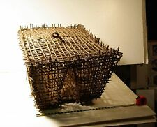 Native American basket, large fish trap, possibly Hawaiian.