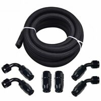 4/6/8/10/12AN Braided Oil/Air/Fuel Hose/Line Kit with 6Pcs Swivel Hose Fitting